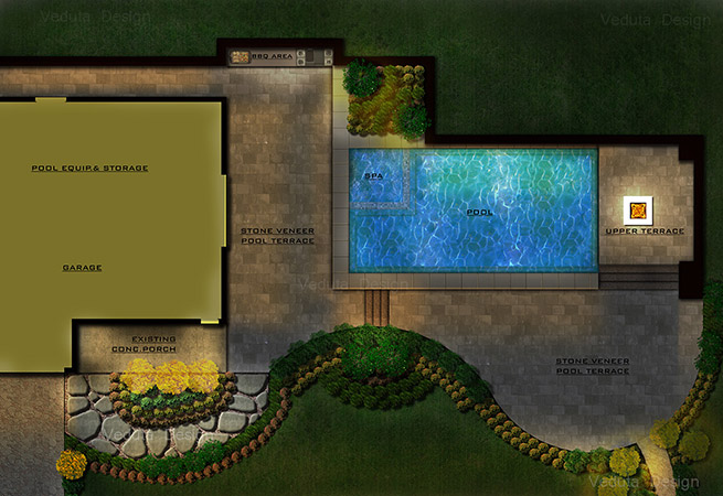Private Residence Pool Plan, California